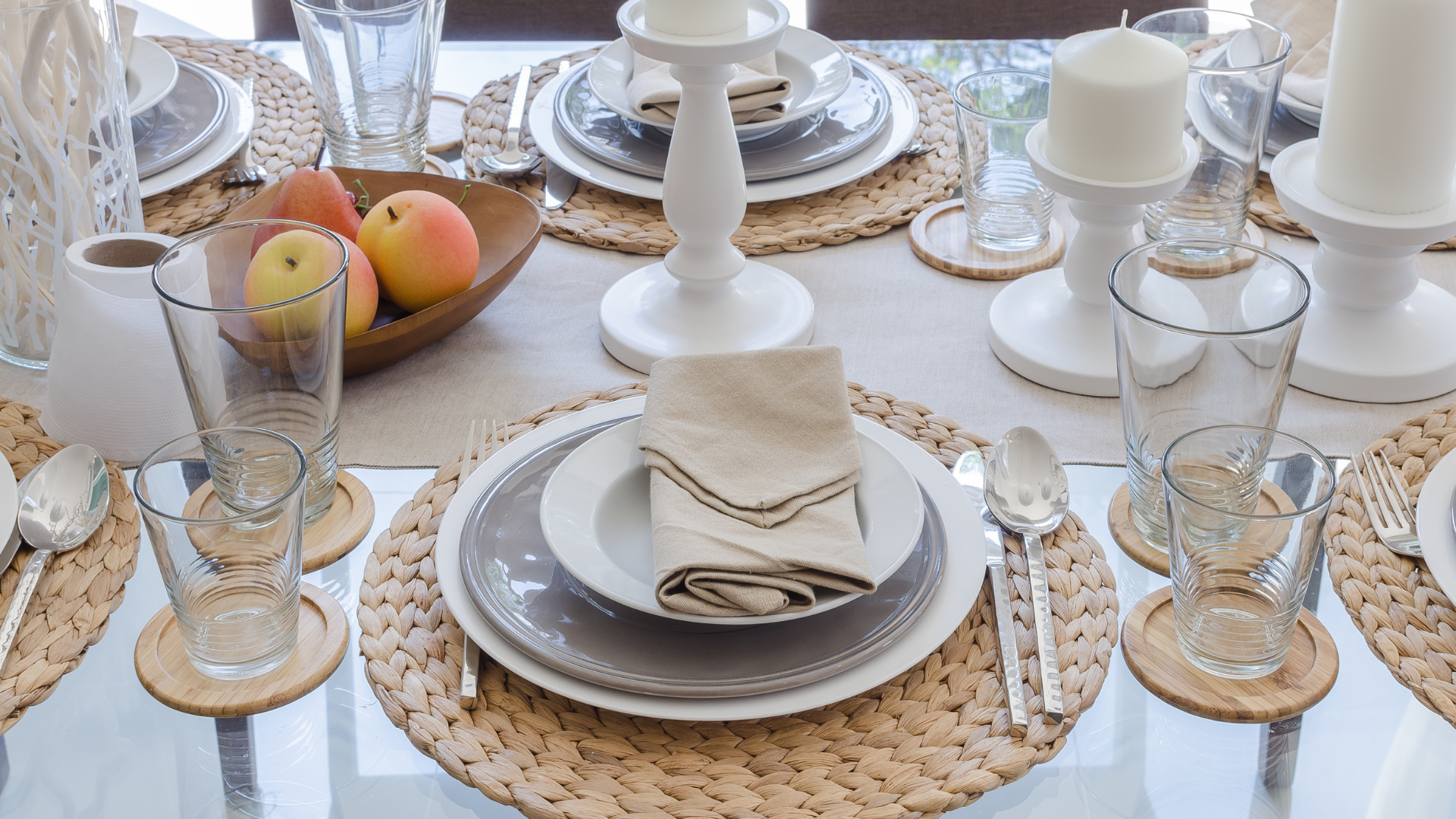 Dining room table styled